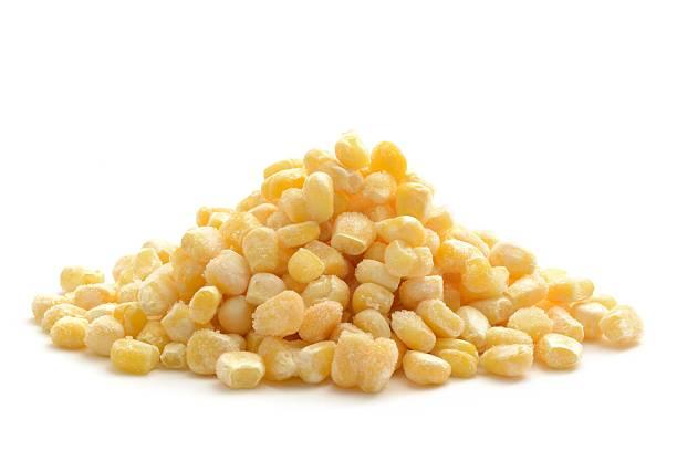 Frozen sweetcorn stock photo