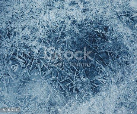 Winter background: Frozen lake surface.