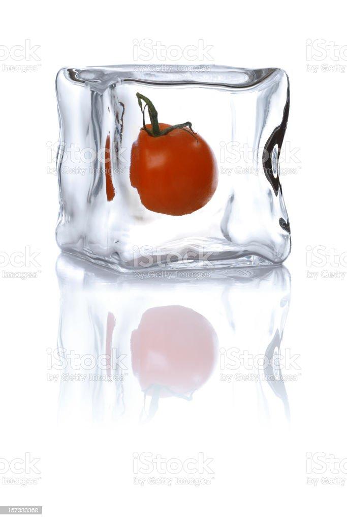 frozen tomato royalty-free stock photo