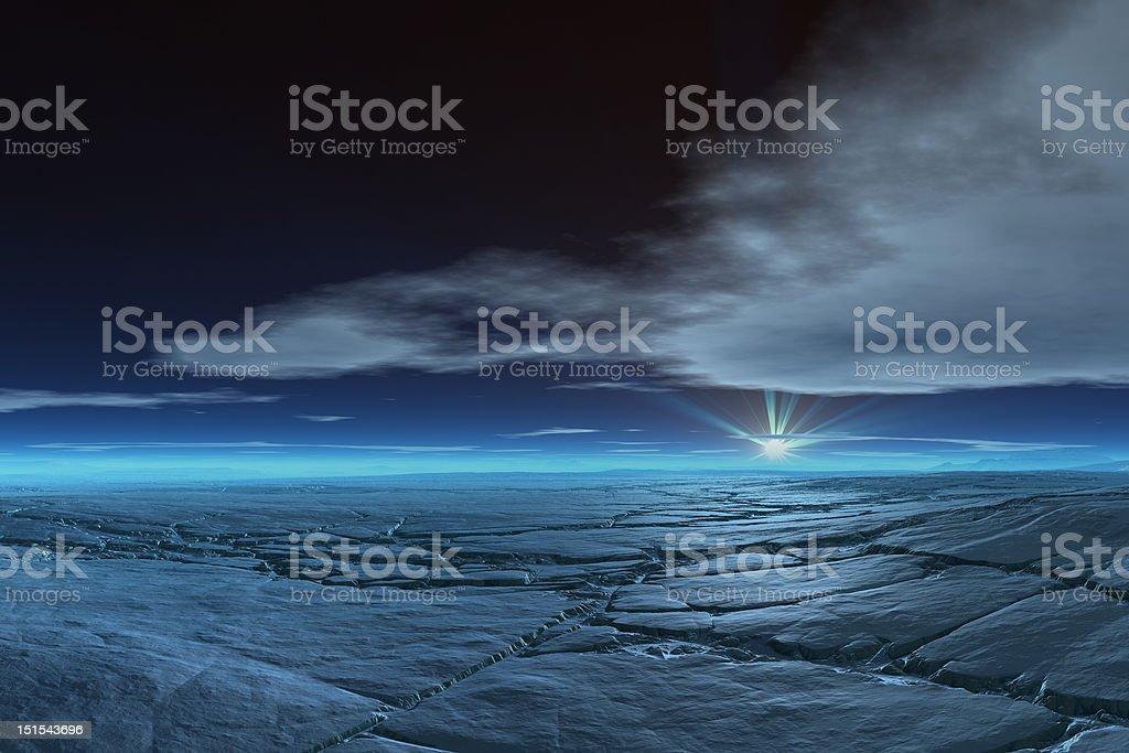 Frozen Tundra stock photo