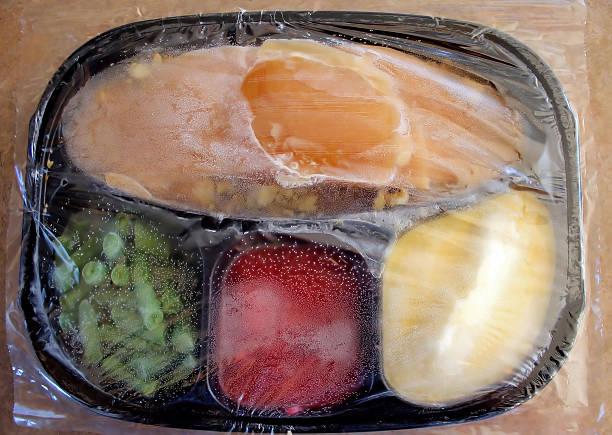 Cena di tacchino di materiale congelato - foto stock