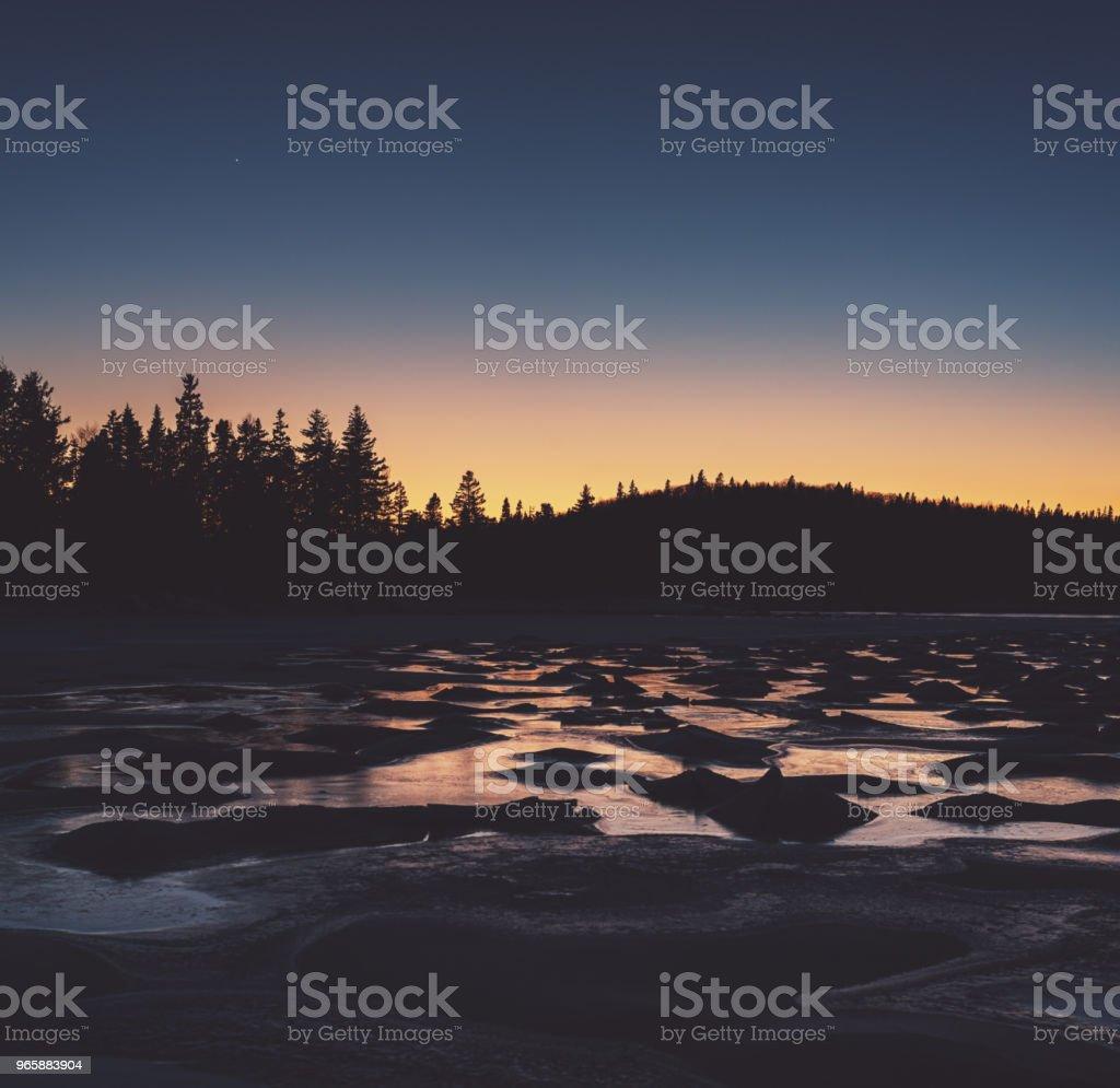 Замороженные сумерки - Стоковые фото Атлантический океан роялти-фри