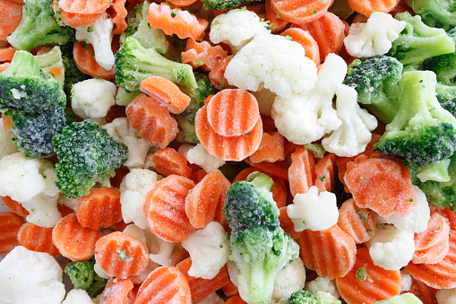 Frozen vegetable.