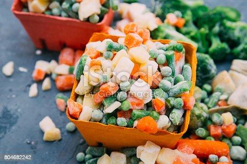 istock Frozen vegetables Mexican mix 804682242