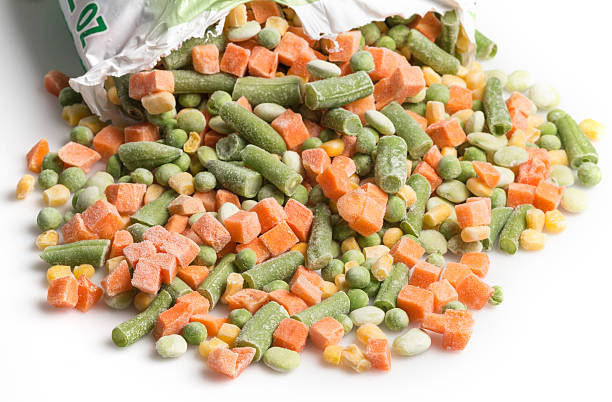 frozen vegetables - frozen stock photos and pictures