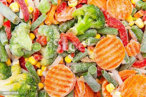 istock Frozen vegetables 488875558