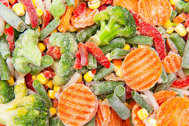 frozen vegetables - frozen stock pictures, royalty-free photos & images