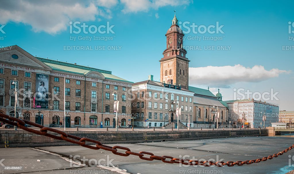 Frozen view of Gotegorg stock photo