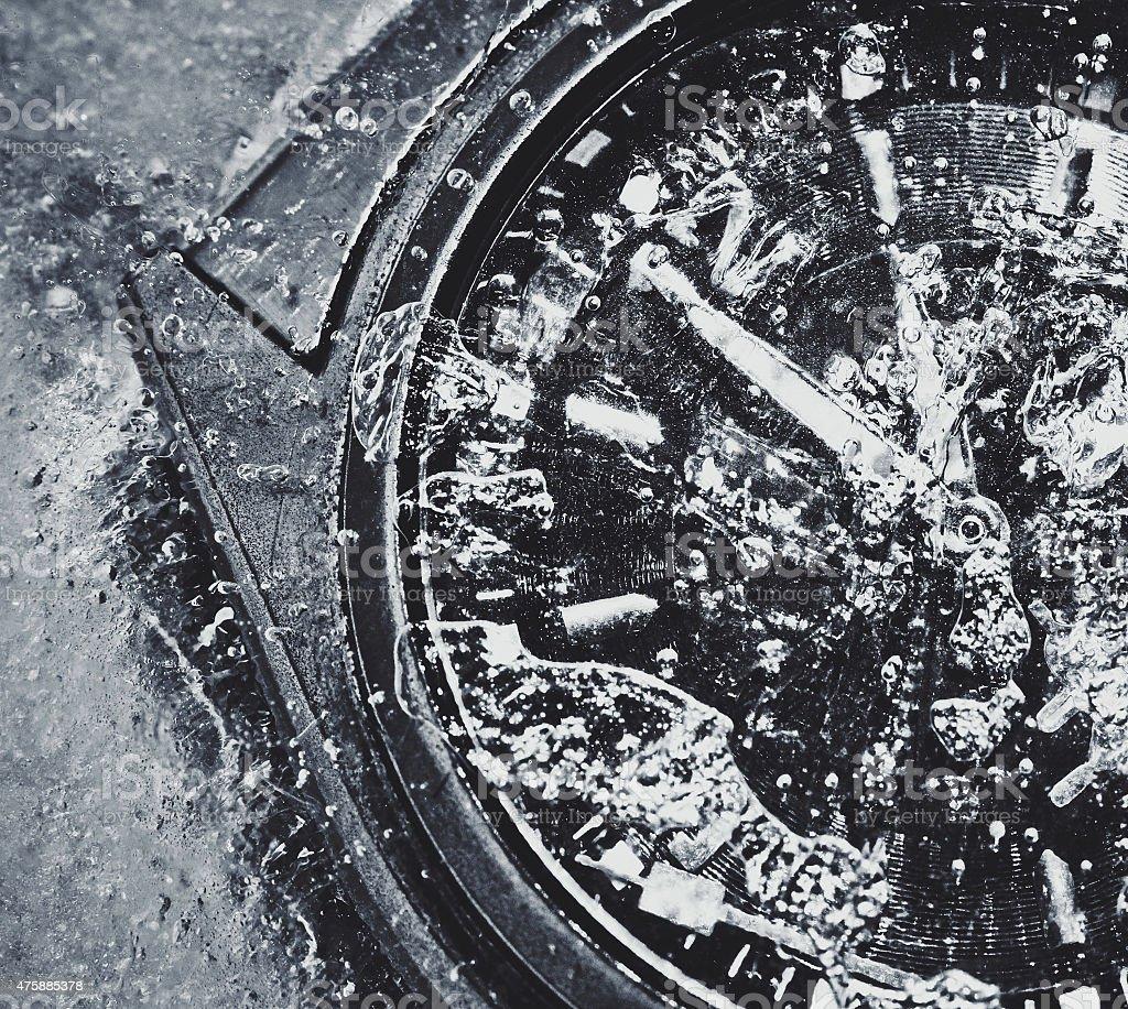 frozen watch stock photo