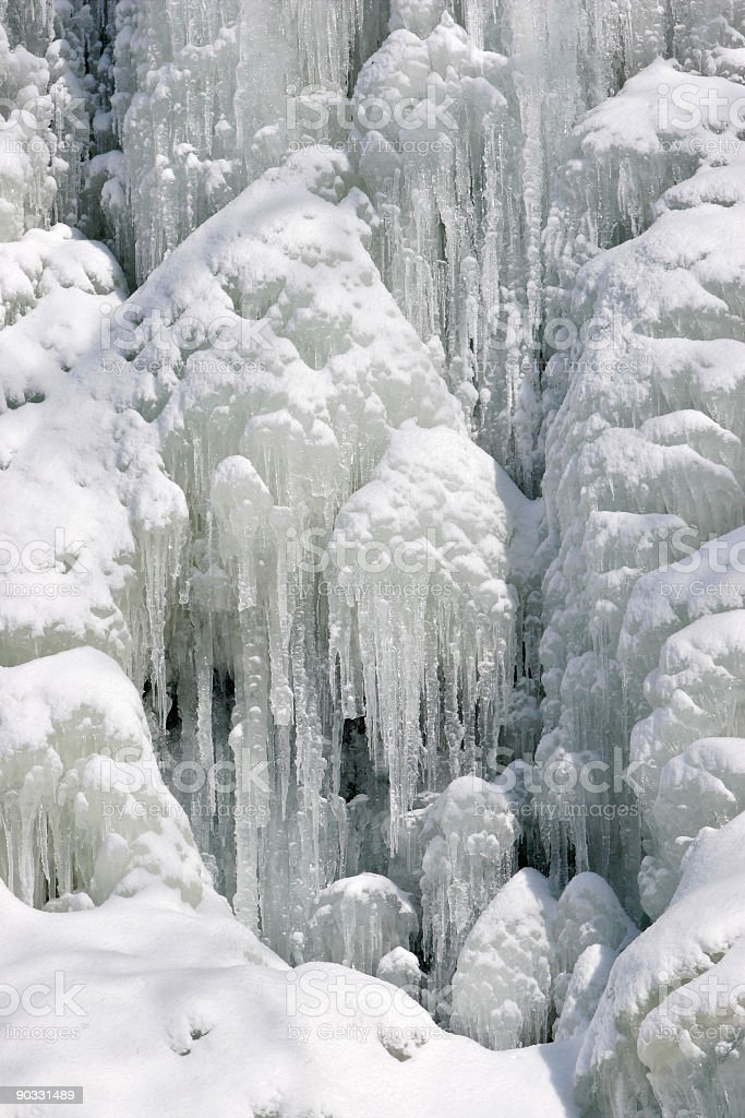 Frozen Water Fall III royalty-free stock photo