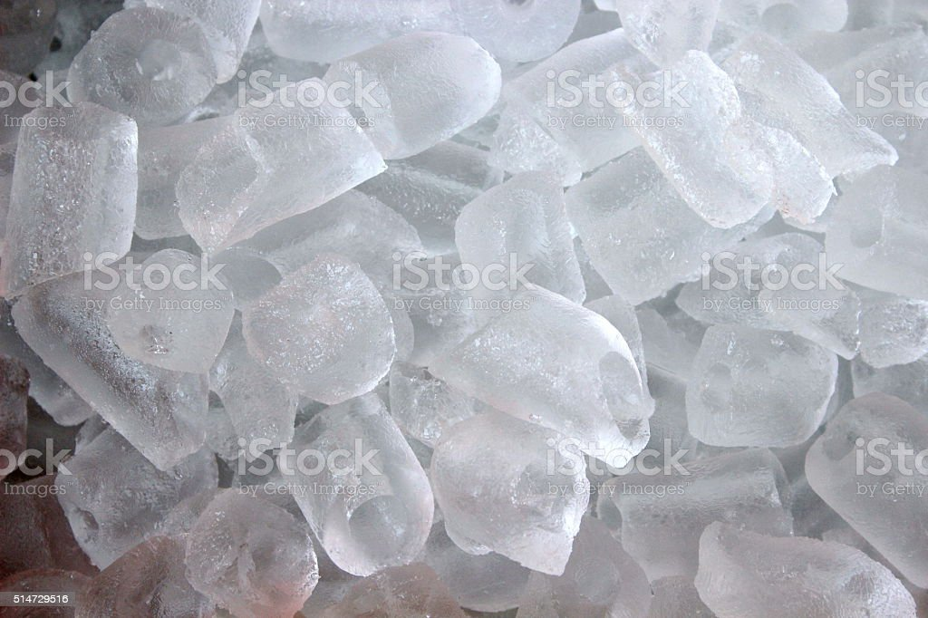 frozen water stock photo