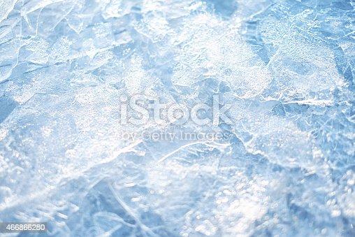 Frozen water surface