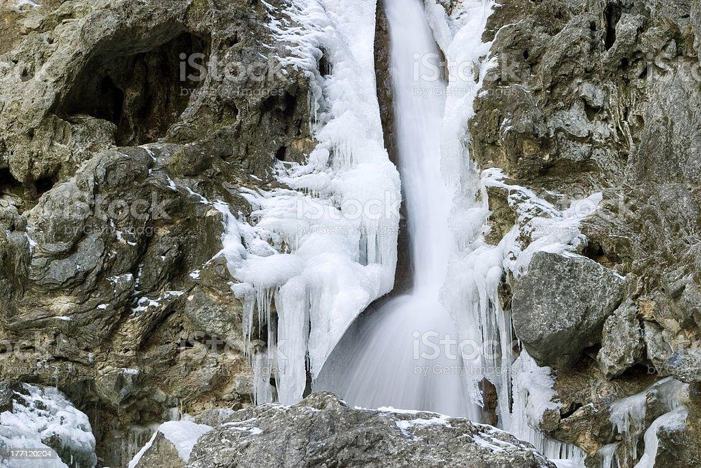 Frozen Waterfall Goredale Scar Yorkshire Dales April 20
