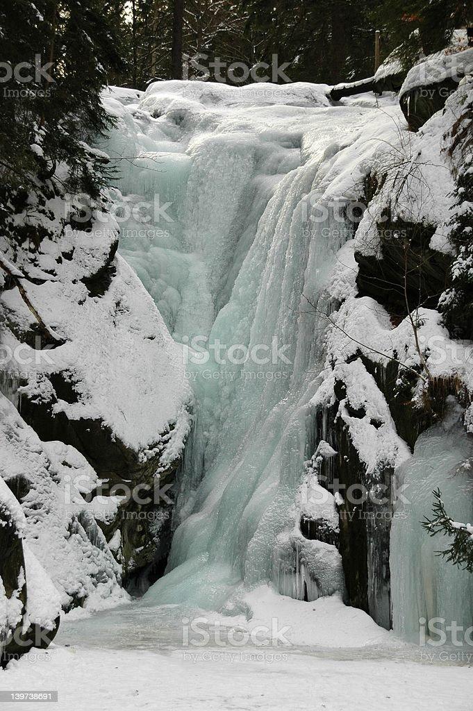 Frozen waterfall royalty-free stock photo