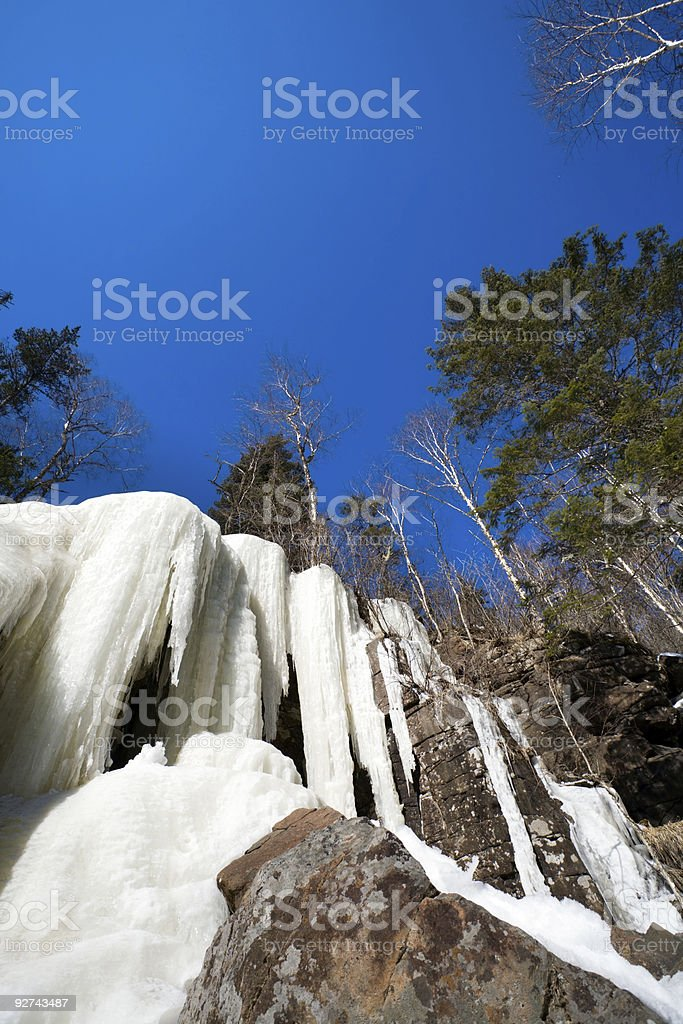 Gefrorene-Wasserfall Lizenzfreies stock-foto
