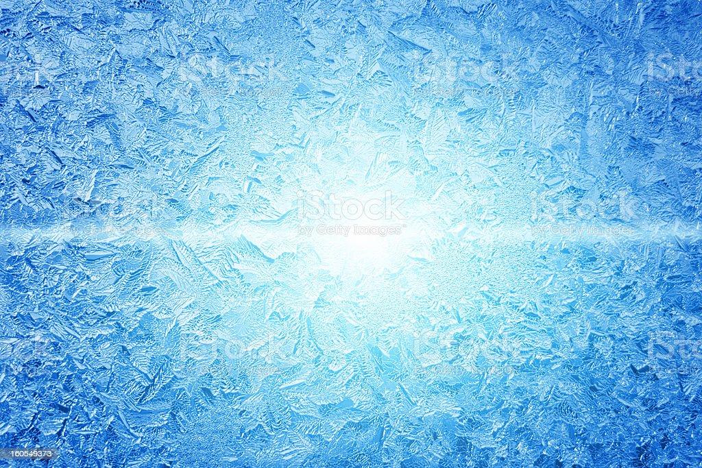 Frozen window royalty-free stock photo