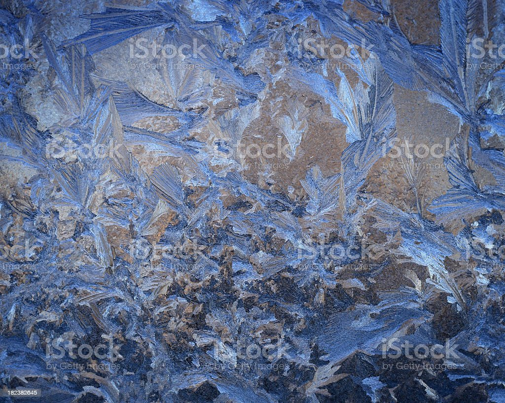 frozen window royalty-free stock photo