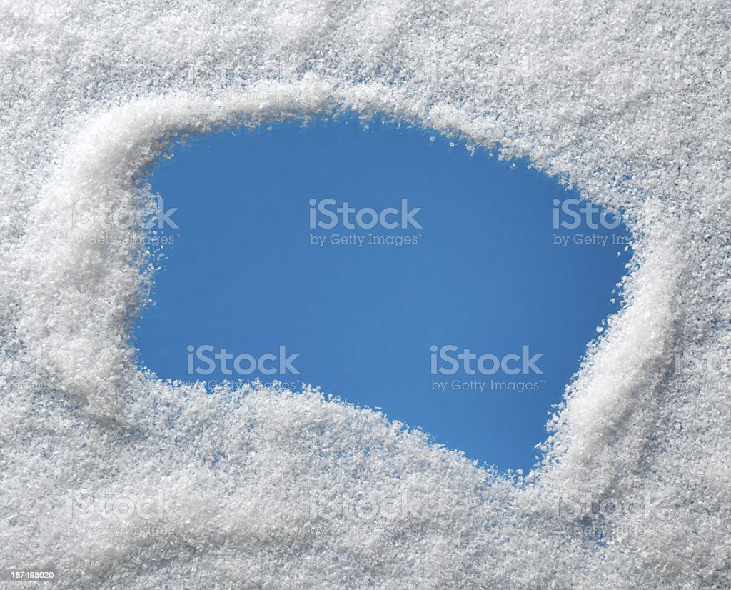 Frozen Windshield with Copy Space royalty-free stock photo