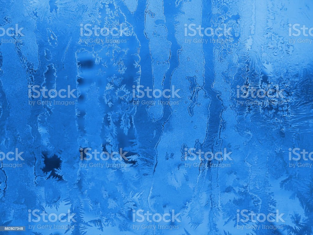 frozen winter glass natural background stock photo