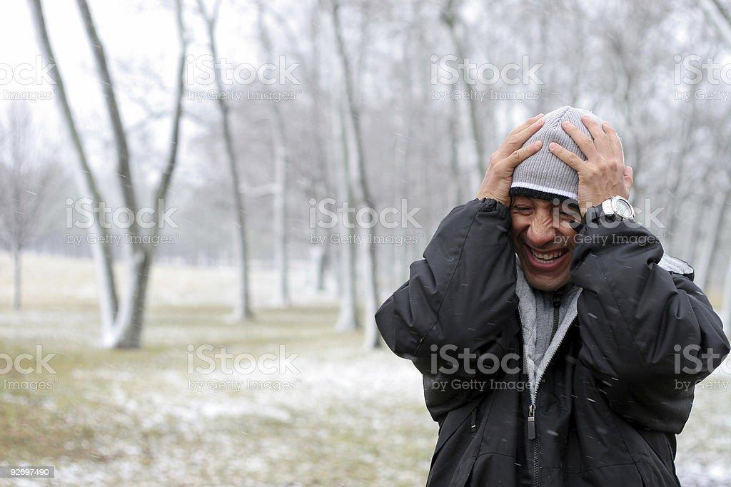 Frozen Winter Guy royalty-free stock photo