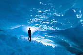 Ice Cave at Bryon Glacier, Alaska
