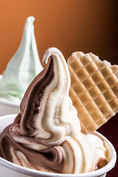Frozen yogurt stock photo