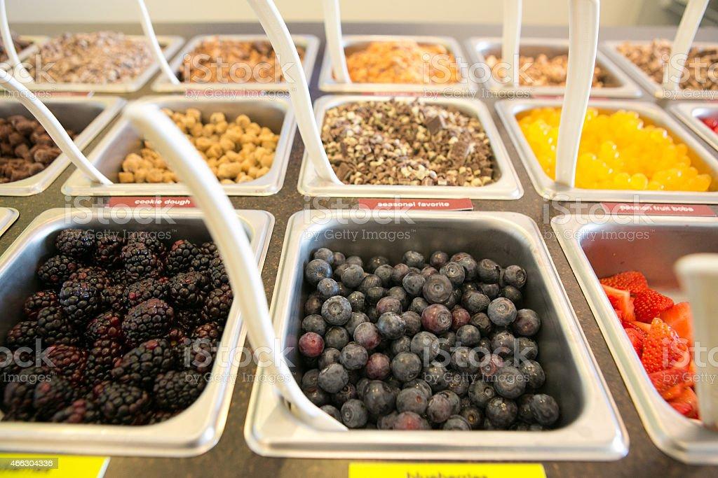 Frozen Yogurt Topping Bar Stock Photo - Download Image Now ...