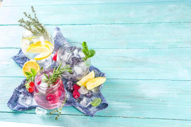 Obst und Beeren Gin Tonics – Foto