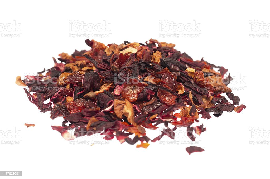 Fruit and flour tea royalty-free stock photo