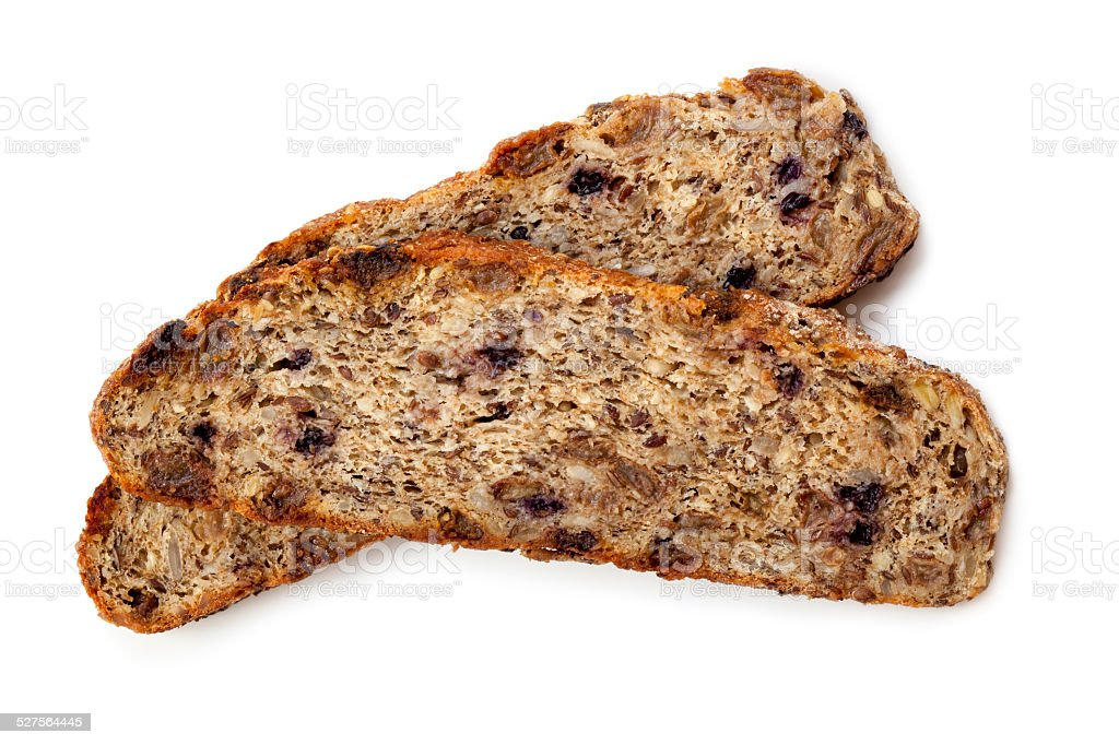 Fruit and Nut Bread Isolated stock photo