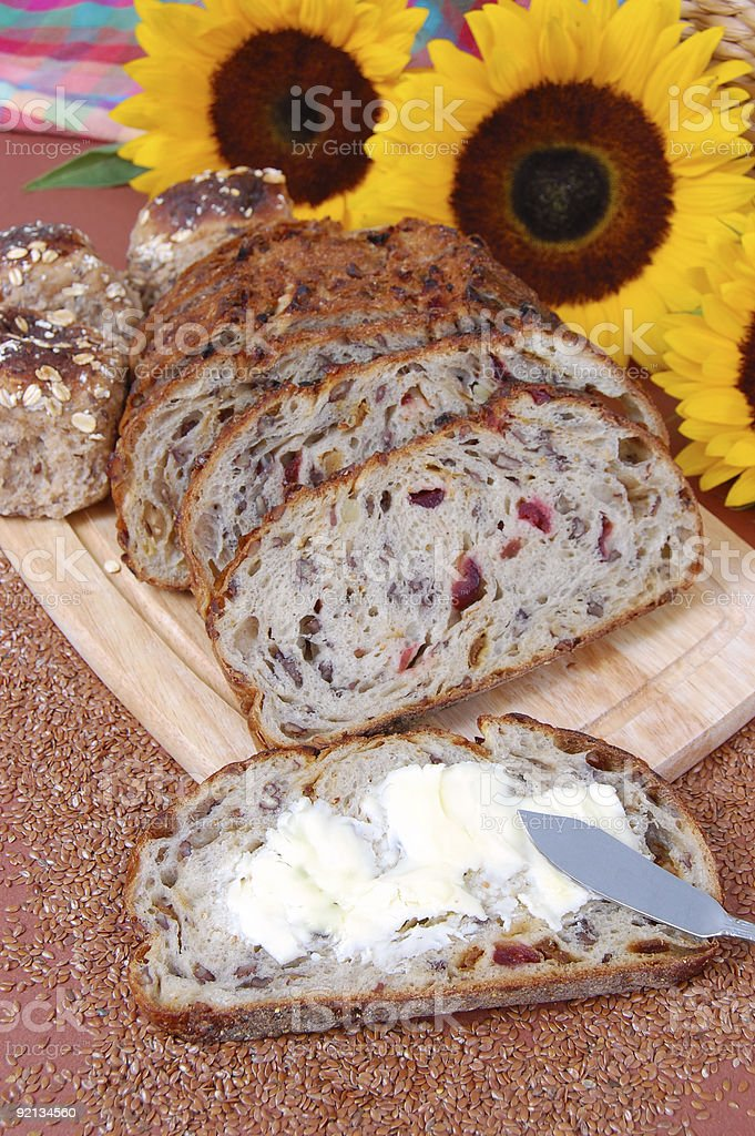 Fruit and Nut Bread stock photo