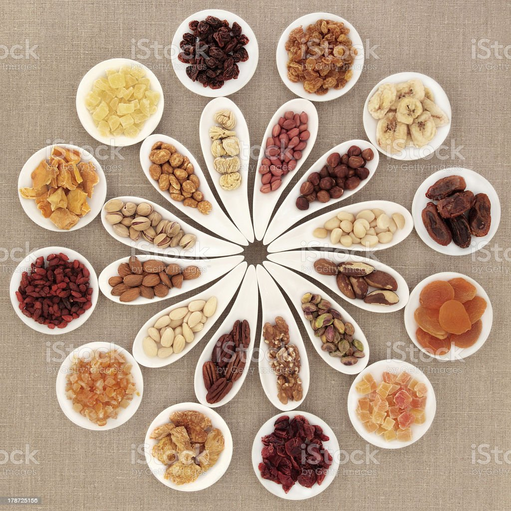 Fruit and Nut Selection royalty-free stock photo