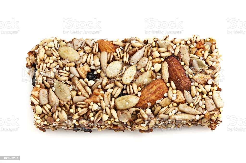 Fruit and Nuts Energy Bar stock photo
