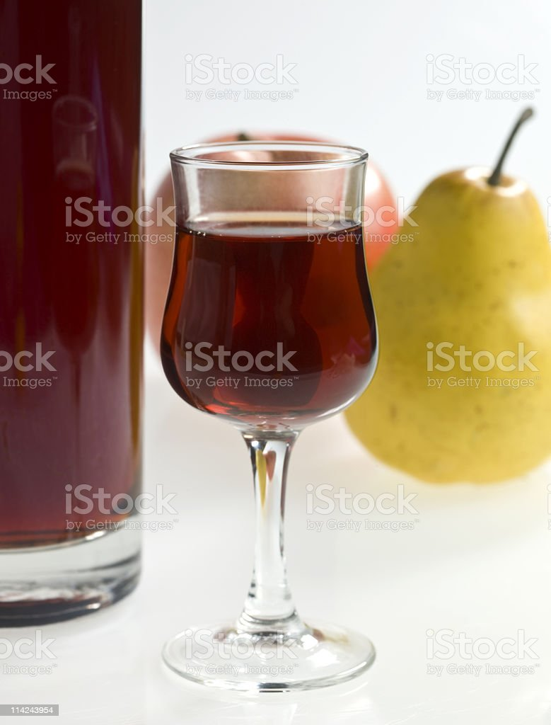 Fruit,  and Porto Wine on white background royalty-free stock photo
