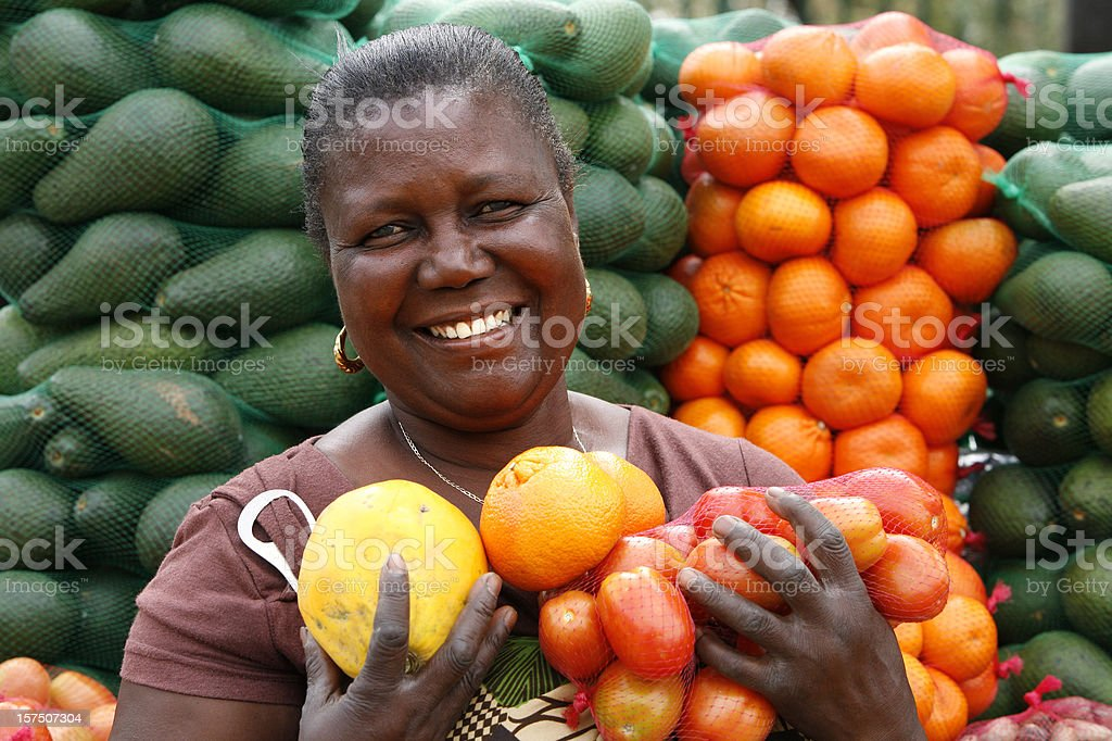 Fruit and Veg seller South Africa stock photo