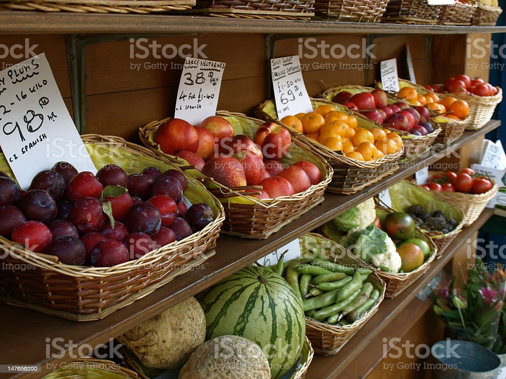 Fruit and Veg shop royalty-free stock photo