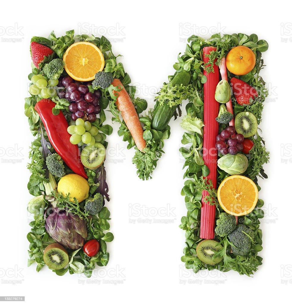 Obst und Gemüse alphabet – Foto