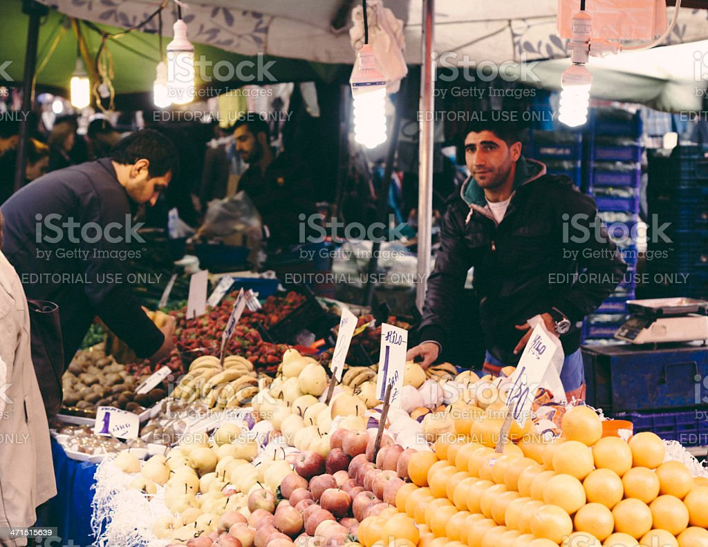 Fruit and Vegetable Market royalty-free stock photo