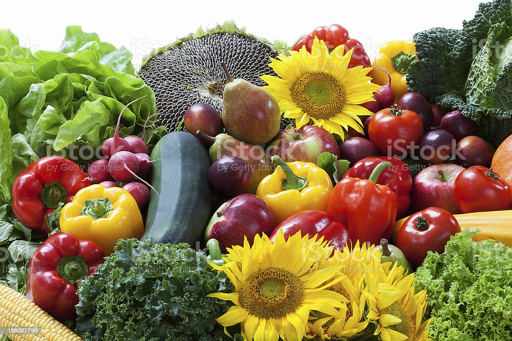 Fruit and vegetable pile royalty-free stock photo