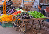 istock Fruit and vegetable seller in Ahmedabad, India 859000944