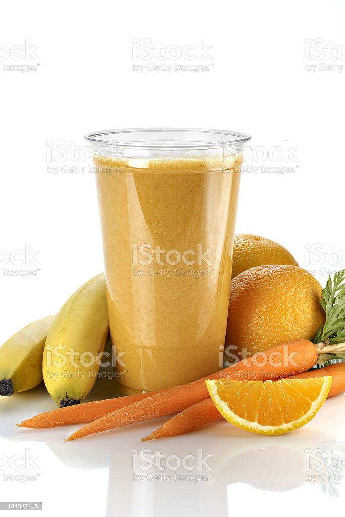 Fruit and Vegetable Smoothie stock photo