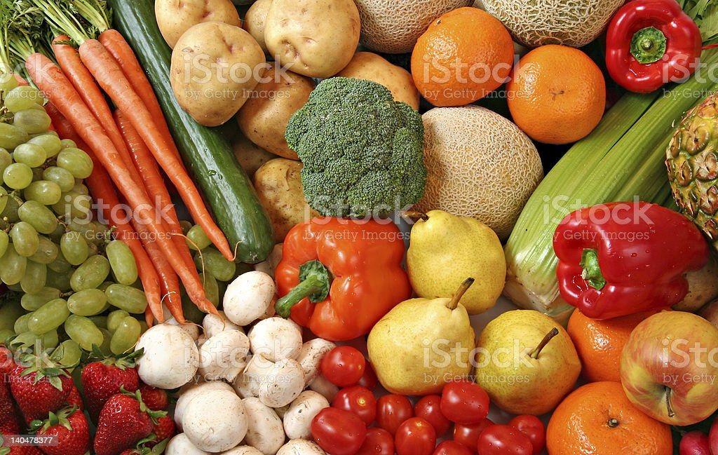 Fruit and vegetable variety. stock photo