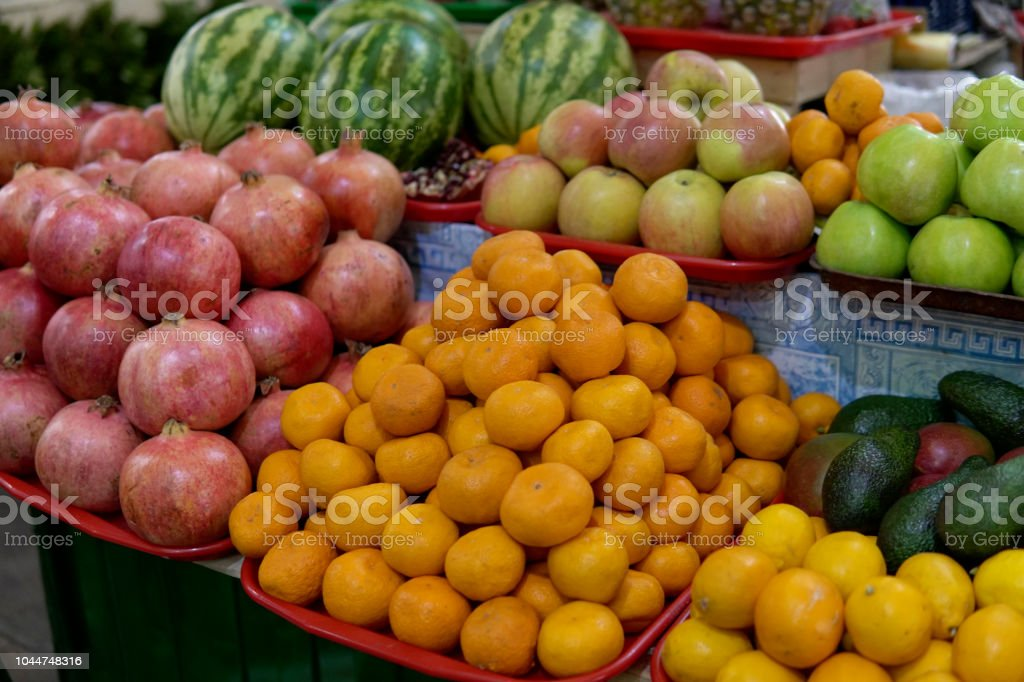 fruit and vegetables apples oranges tomatoes tangerines-melons 1