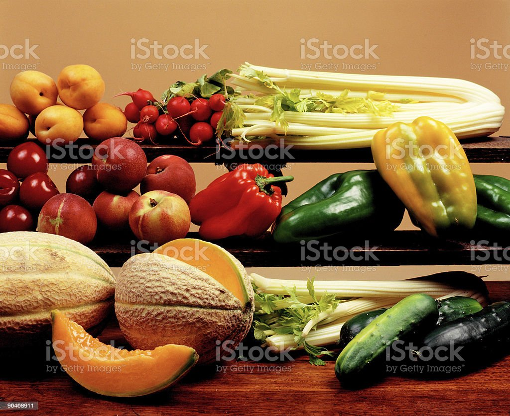 Fruit and vegetables royalty-free stock photo