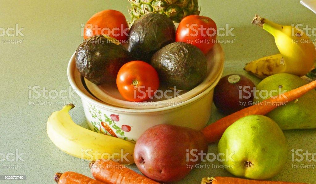 fruit and veggies stock photo