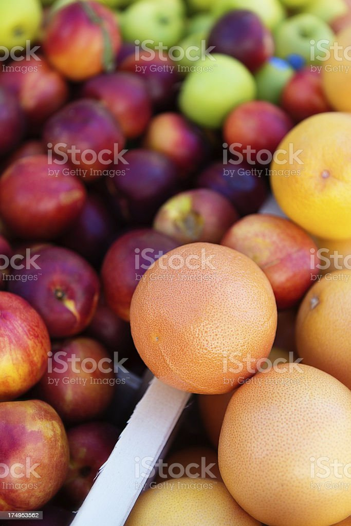Fruit at farmers market royalty-free stock photo