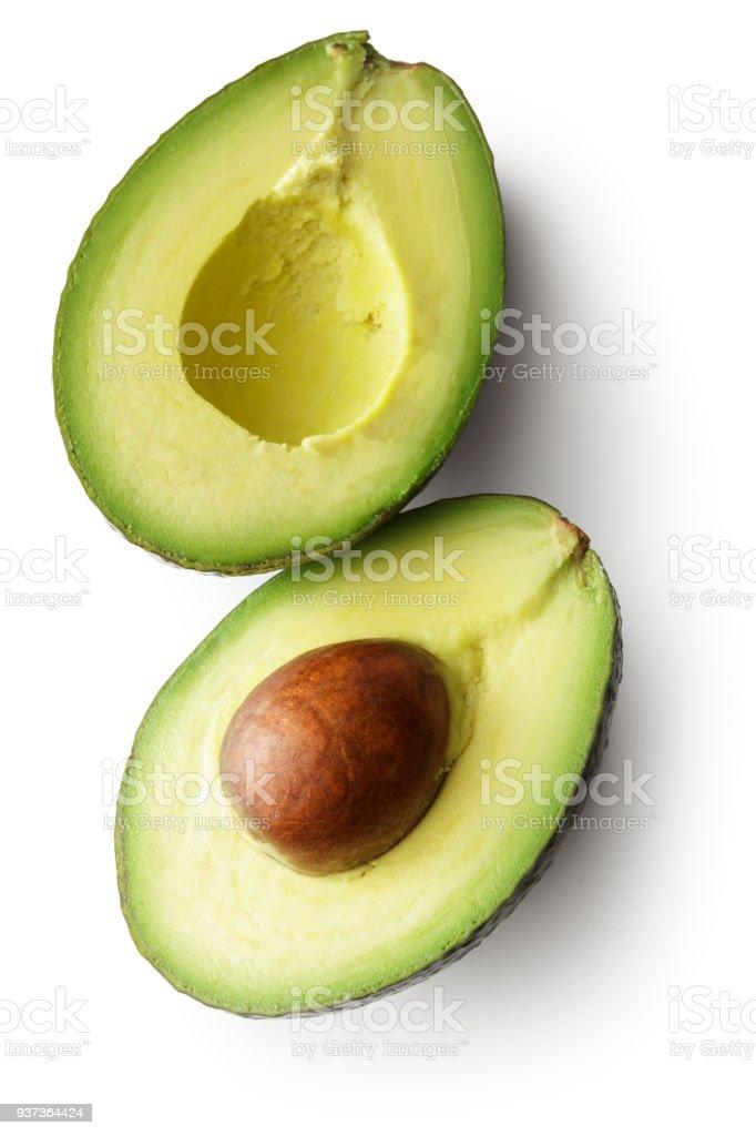 水果: 鱷梨孤立在白色背景上 - 免版稅一個物體圖庫照片