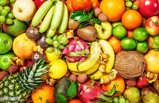 istock Fruit background 637766710