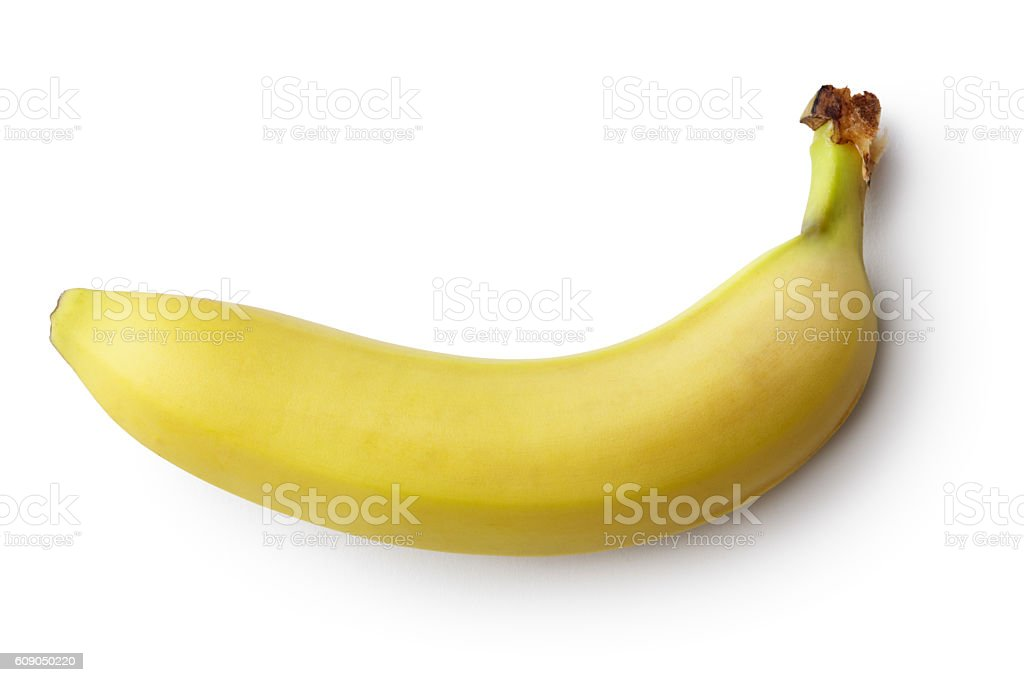 Fruit: Banana Isolated on White Background 스톡 사진