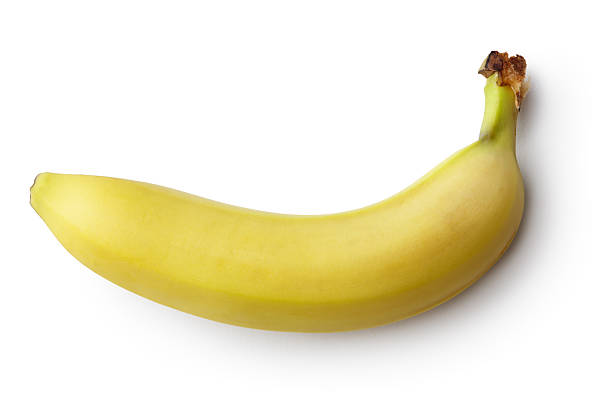 Fruit: Banana Isolated on White Background 스톡 사진